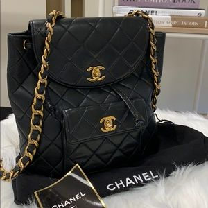 Chanel Quilted Backpack.